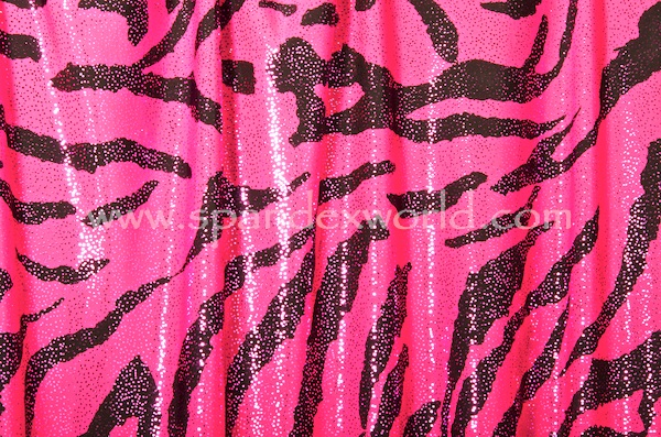 Animal Print Hologram (Fuchsia/Black/Fuchsia)