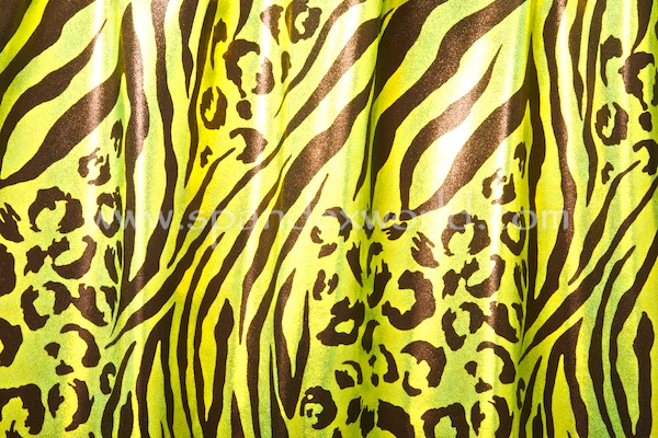 Animal Print Hologram (Lime/Chartreuse/Black)