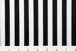 Printed Stripes 1/2'' (Black/White)