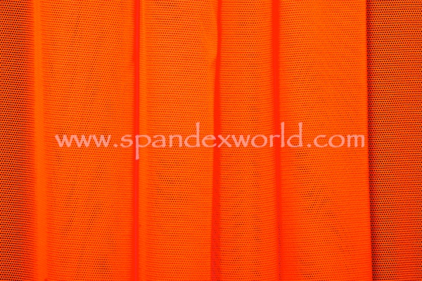 Stretch Solid Mesh (Neon Orange)