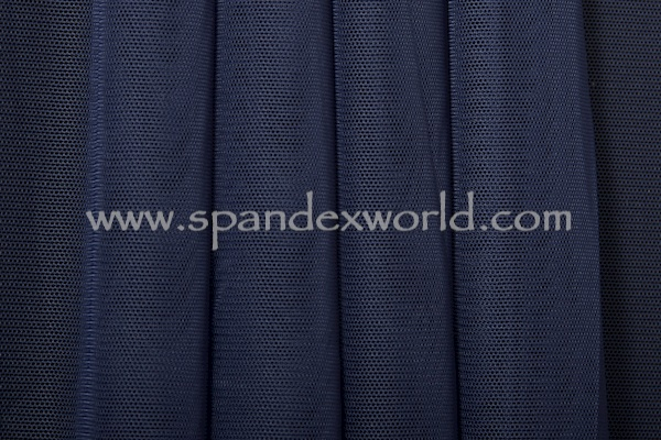 Stretch Solid Mesh (Navy)