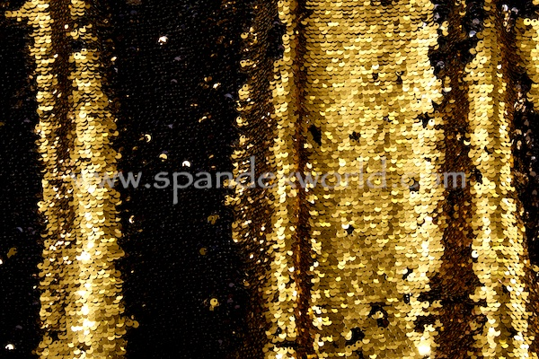 Reversible Stretch Sequins (Gold/Black)