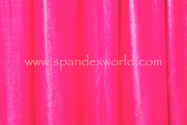 2 Way Stretch Solid Velvet (Hot Pink)