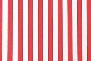 Printed Stripes 1/2'' (Red/White)