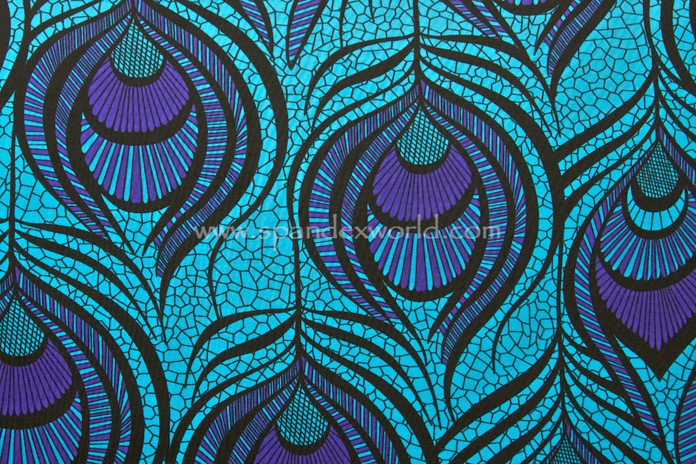 Peacock prints (Violet/Turquoise/Black)