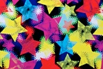 Printed stars(Red/Yellow/Black/Multi)