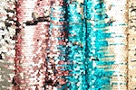 Stretch Sequins (Dusty Rose/Turquoise/Multi)