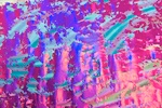 Pattern/Abstract Hologram (Fushia/Multi)